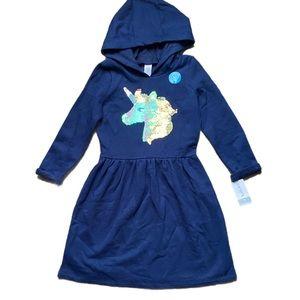 NWT CARTERS Little Girls Flip Sequin Unicorn Dress
